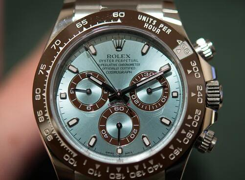 ice-blue dial of knock off Rolex Daytona 116506