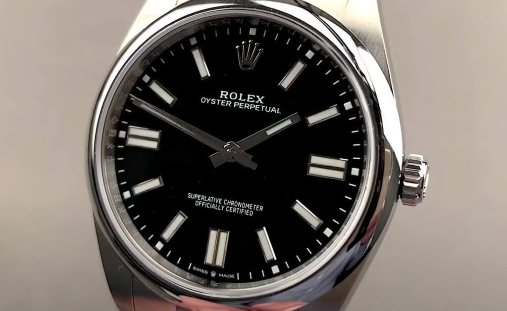 Fake Rolex Oyster Perpetual 41 124300 Black Dial