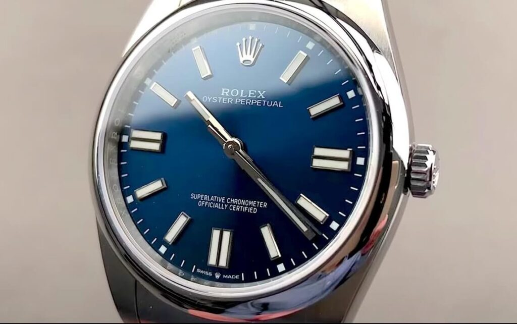 Fake Rolex Oyster Perpetual 41 124300 Blue Dial