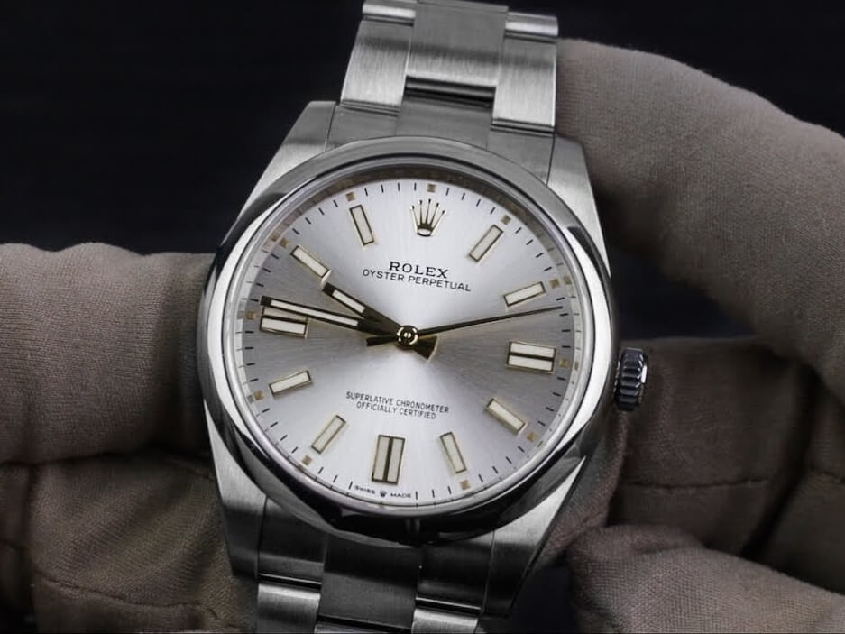 Fake Rolex Oyster Perpetual 41 124300 Silver Dial